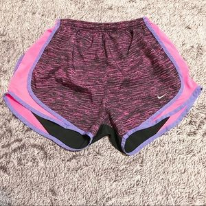 Nike Dri-Fit Black Stripes Running Brief Shorts